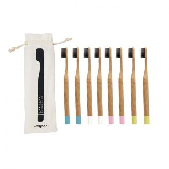 Set de 8 Brosses à dents Bambou