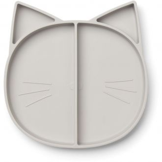 Assiette Maddox Chat Gris