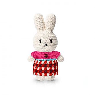 Peluche Lapin Miffy Robe Carreaux