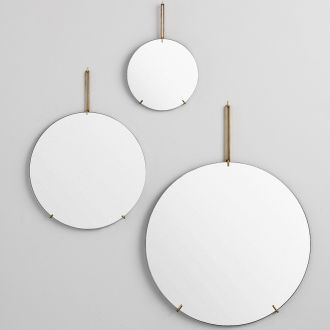 Wall brass mirror L
