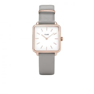 Montre La Tétragone Rose Gold White Grey