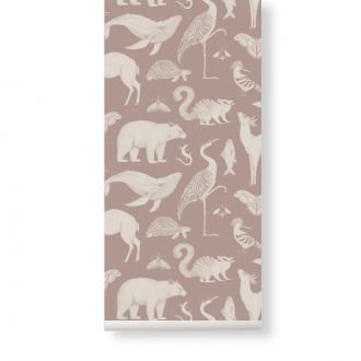 Papier Peint Katie Scott Animal Gris