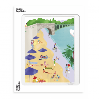 Affiche WLPP paris beach 56x76cm