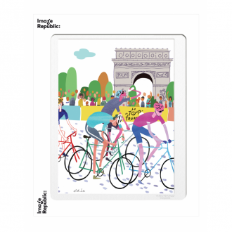 Affiche Wlpp Paris Tour De France 30 x 40 cm