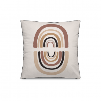 Coussin Personality Velours Marron / Ocre