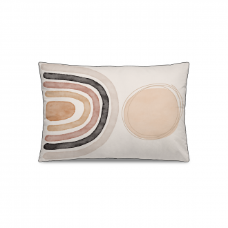 Coussin Personality Velours Rose / Ocre