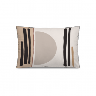 Coussin Personality Velours Ocre / Noir