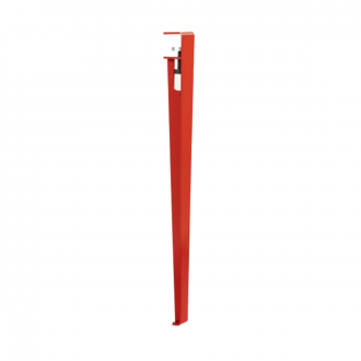 Pied de table 75 cm Rouge Tomette