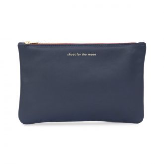 Pochette L Shoot for the moon Bleu
