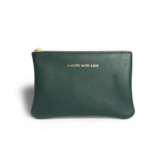 Pochette XS Handle with care Vert