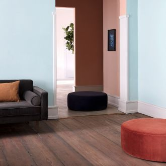Pouf velours Wind Bleu