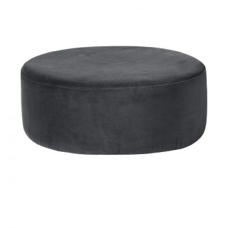 Pouf velours Wind Gris