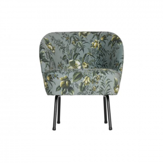 Fauteuil Vogue Velours Poppy Gris