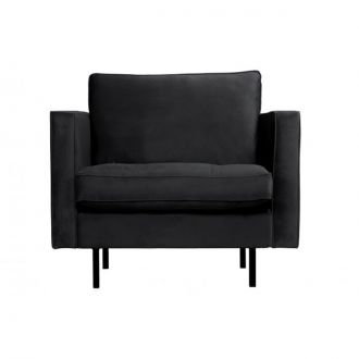 Fauteuil Rodeo Classic velours Anthracite