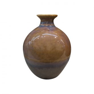 Vase Reactive Glaze Marron