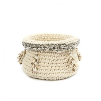Panier the Silver Beaded Cowrie M