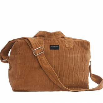 City bag Sauval velours Tobacco