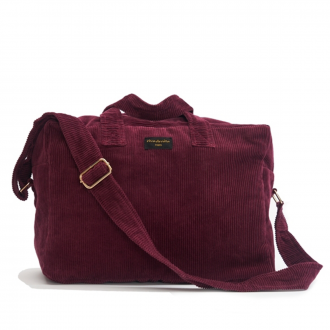 City bag Sauval velours Bordeaux