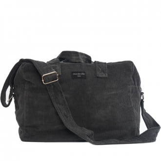 City bag Sauval velours Gris