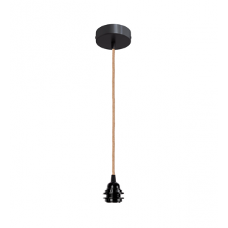 Suspension douille Noir