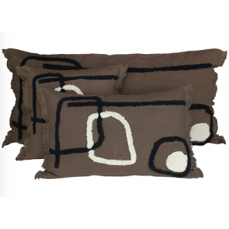 Coussin Tikri brownie S