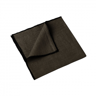 Lot de 4 serviettes Letia brownie