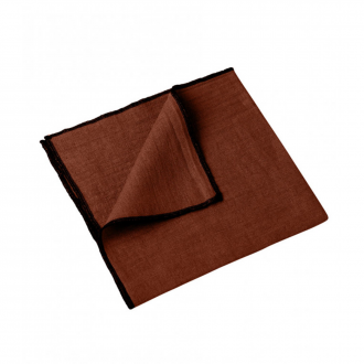 Lot de 4 serviettes Letia brique