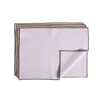 Set de 4 Serviettes de table Contour Lavande