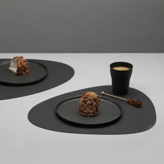Set de table en cuir Curve anthracite