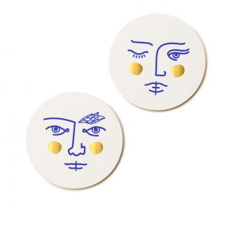 Set of 2 Janus Coasters