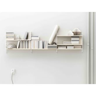 String Pocket Shelf - Birch & White