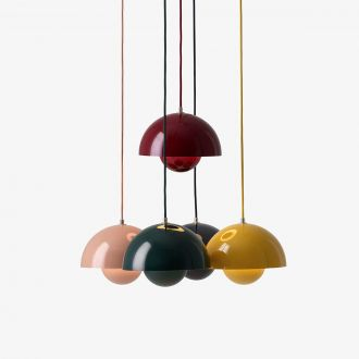 Suspension Flowerpot Gris beige by Verner Panton