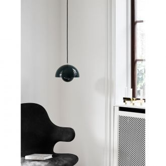 Suspension Flowerpot Vert by Verner Panton