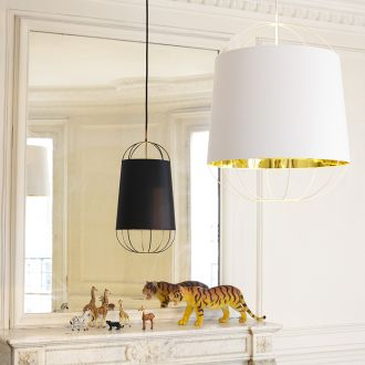 Lanterna Black & Gold Pendant Light - Small