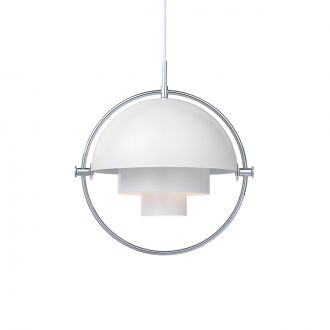 Suspension Multi-Lite Blanc & Chrome