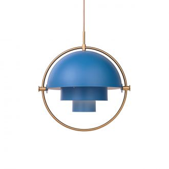 Suspension Multi-Lite Bleu & Laiton