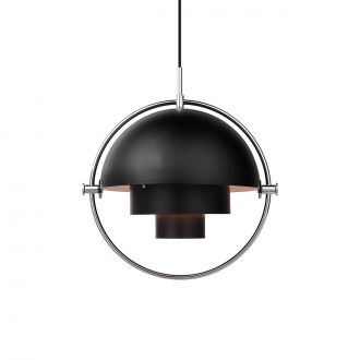 Suspension Multi-Lite Noir & Chrome