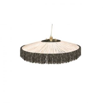 Suspension Parasol Franges PM Noir