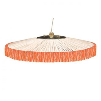 Suspension Parasol Franges GM Orange