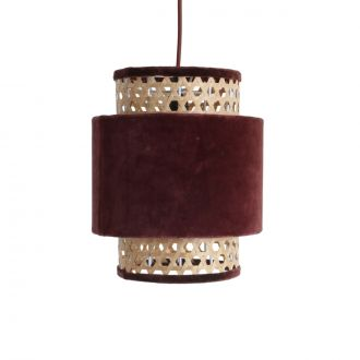 Suspension velours Cilindre Bordeaux S