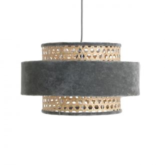 Suspension Velours Cilinder Gris argent M