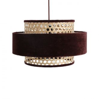 Suspension Velours Cilinder Bordeaux M