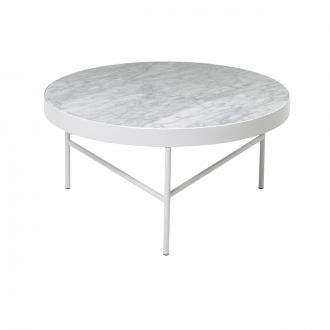 Table de salon en marbre Blanc