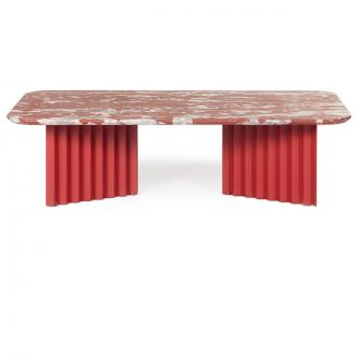 Table de salon Plec Marbre rouge GM