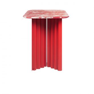 Table d'appoint Plec Marbre rouge