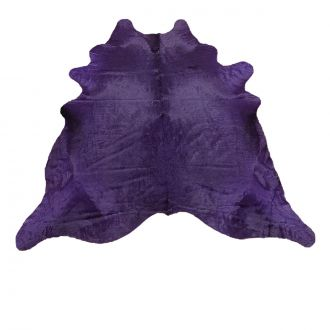 Purple dyed calfskin rug