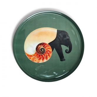 Plateau rond Shellphant