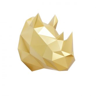 Trophy origami Rhinoceros gold