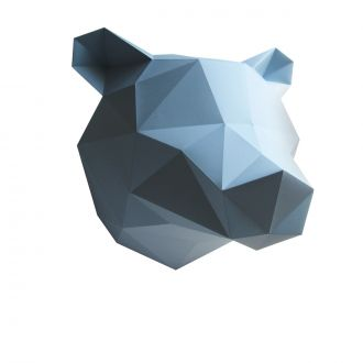 Origami Trophy - Bear - Blue