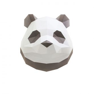 Paper Origami Panda Trophy - Brown